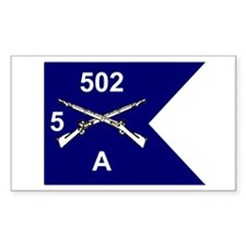 A Co. 5/502 Rectangle Decal
