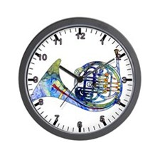 Wild French Horn Wall Clock