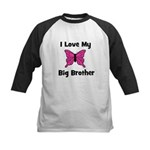 Love My Big Sister (butterfly Kids Baseball Jersey
