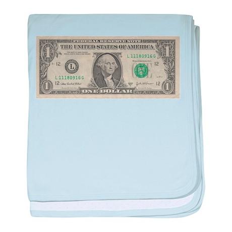 1 dollar bill baby blanket