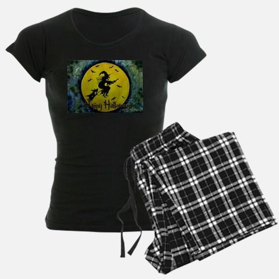 Scottie Witch Broom Pajamas