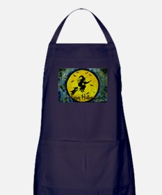 Scottie Witch Broom Apron (dark)