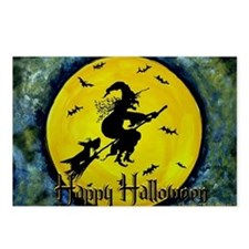 Scottie Witch Broom Postcards (Package of 8)
