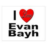 I Love Evan Bayh Small Poster