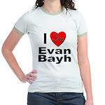 I Love Evan Bayh (Front) Jr. Ringer T-Shirt