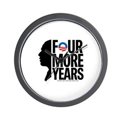 Four More Years Wall Clock