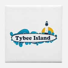Tybee Island GA - Surf Design. Tile Coaster