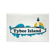 Tybee Island GA - Surf Design. Rectangle Magnet