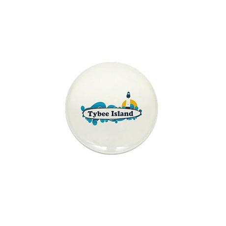 Tybee Island GA - Surf Design. Mini Button (10 pac