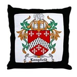Longfield Coat of Arms Throw Pillow