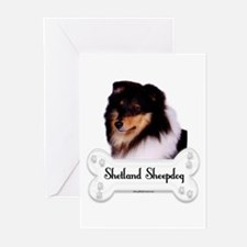 Sheltie 5 Greeting Cards (Pk of 10)