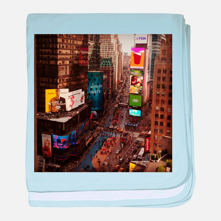 room with a view... TIMES SQUARE baby blanket