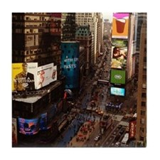 room with a view... TIMES SQUARE Tile Coaster