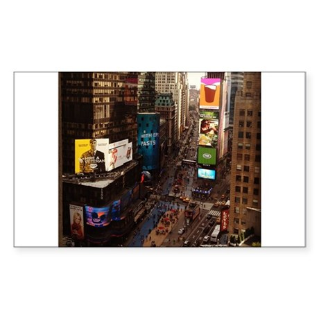 room with a view... TIMES SQUARE Sticker (Rectangl