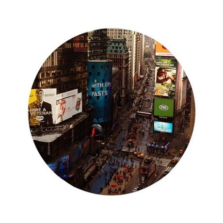 """room with a view... TIMES SQUARE 3.5"""" Button"""