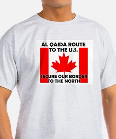 BORDER PATROL CANADA CANADIAN Ash Grey T-Shirt