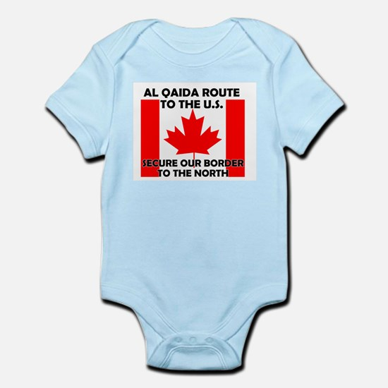 BORDER PATROL CANADA CANADIAN Infant Creeper