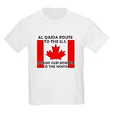 BORDER PATROL CANADA CANADIAN Kids T-Shirt