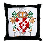 Locke Coat of Arms Throw Pillow