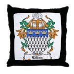 Litton Coat of Arms Throw Pillow
