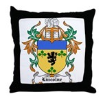 Lincolne Coat of Arms Throw Pillow