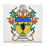 Lincolne Coat of Arms Tile Coaster