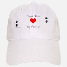 Love is Sheltie Baseball Baseball Cap