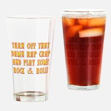 Rock & Roll Drinking Glass