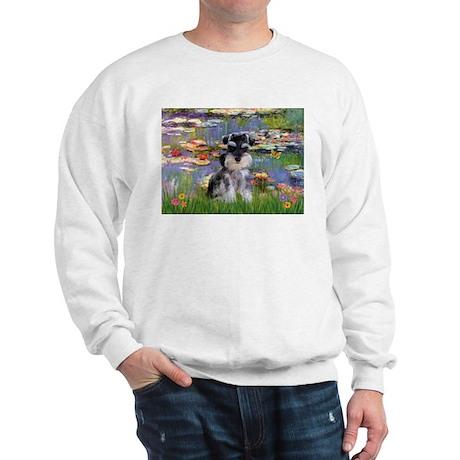 Lilies & Schnauzer pup (Nat) Sweatshirt
