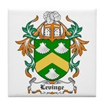 Levinge Coat of Arms, Family  Tile Coaster