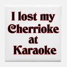 I Lost My Cherrioke Tile Coaster