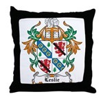 Leslie Coat of Arms Throw Pillow