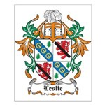 Leslie Coat of Arms Small Poster