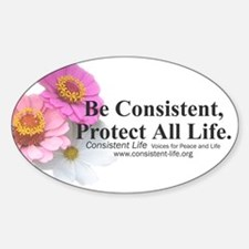 Be Consistent Oval Decal