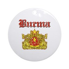 Burma Coat Of Arms Ornament (Round)