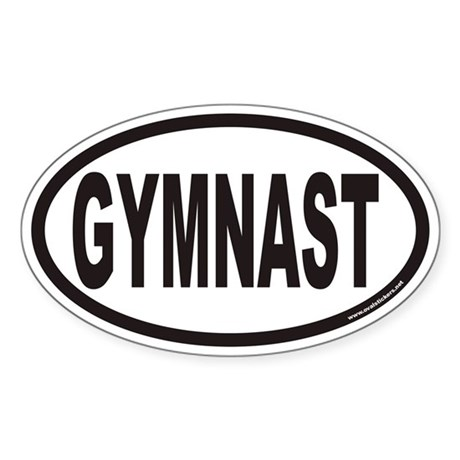 GYMNAST Euro Oval Sticker