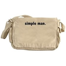 simple man Messenger Bag