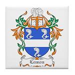 Lemon Coat of Arms, Family Cr Tile Coaster