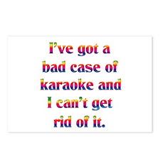 Bad case of karaoke Postcards (Package of 8)