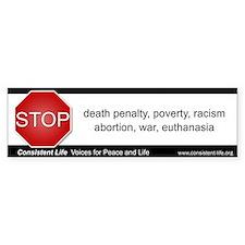 Stop! Bumper Bumper Sticker