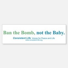 Ban the Bomb Bumper Bumper Bumper Sticker