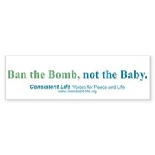 Ban the Bomb Bumper Bumper Sticker