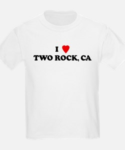 I Love TWO ROCK Kids T-Shirt