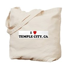 I Love TEMPLE CITY Tote Bag