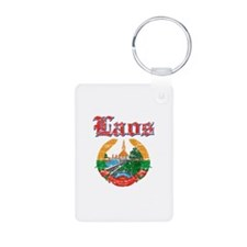 Laos Coat Of Arms Keychains
