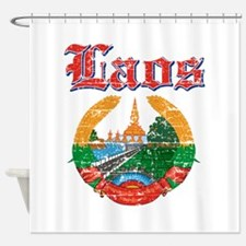 Laos Coat Of Arms Shower Curtain