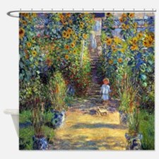 Monet - Garden at Vetheuil Shower Curtain