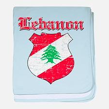 Lebanon Coat Of Arms baby blanket