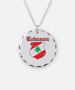 Lebanon Coat Of Arms Necklace