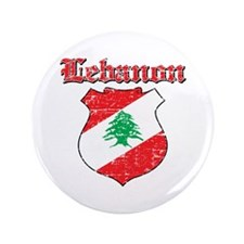 "Lebanon Coat Of Arms 3.5"" Button (100 pack)"